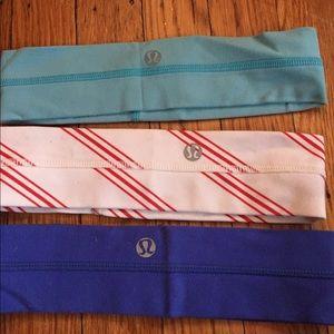 3 lululemon headband never worn!